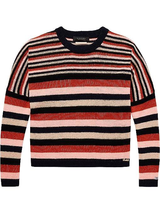 Scotch   Soda Women s Super Soft Pullover in Multi Stripe Jumper   Amazon.co.uk  Clothing cfd63fbbab8b