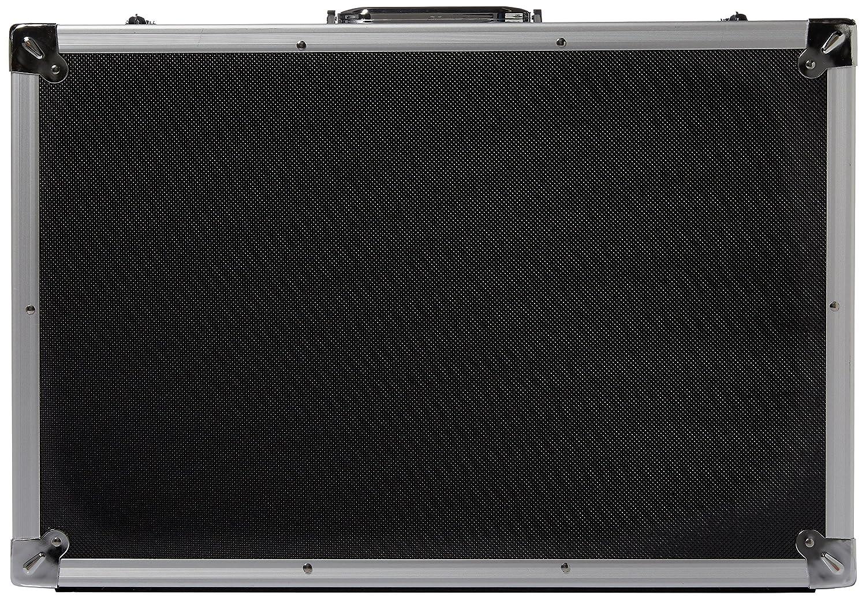 bc47 57 – ブラックアルミニウムハードケース – DJ、カメラ B00NP4JWQQ、バンド – 15 57 cm x 15 cm x 7.5