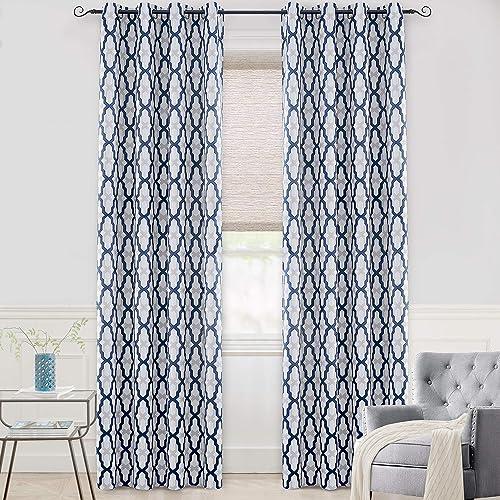 Deal of the week: DriftAway Mason Thermal Blackout Grommet Window Curtains Geometric Trellis Pattern 2 Panels Each 52 Inch