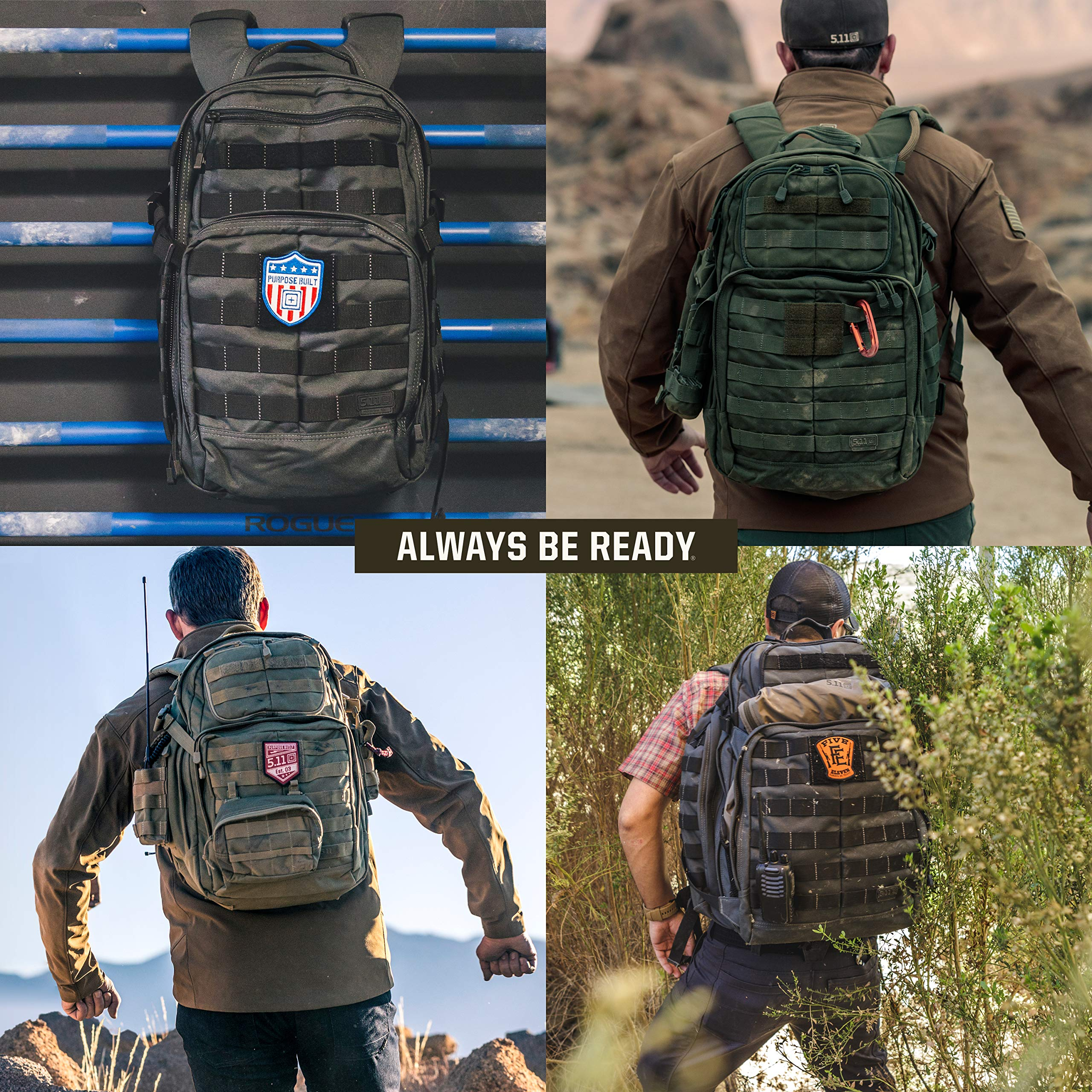 5.11 RUSH12 Tactical Military Assault Molle Backpack, Bug Out Rucksack Bag, Small, Style 56892, Black by 5.11 (Image #7)