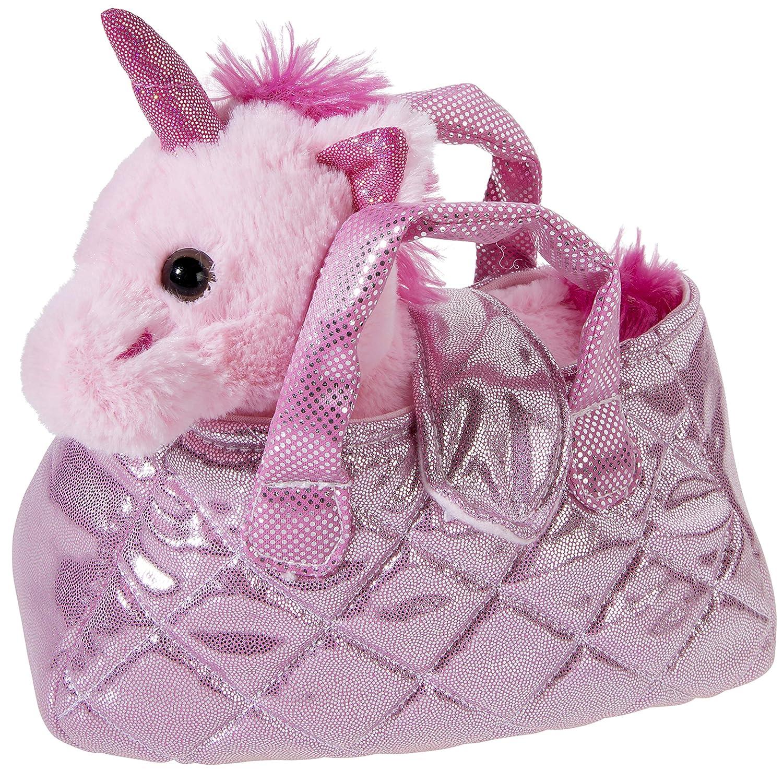 Heunec 501577 - Unicornio en bolsa (20 cm), color rosa