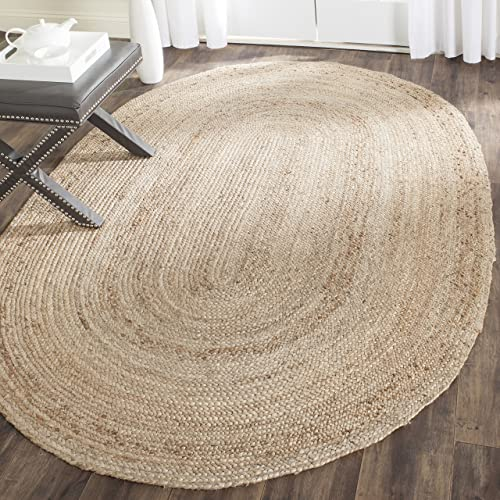 Safavieh Cape Cod Collection CAP252A Hand Woven Natural Jute Area Rug 5 x 8