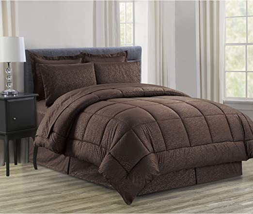 7 Piece Bed-In-A-Bag Down Alternative Comforter /& Sheet Set 8 Colors