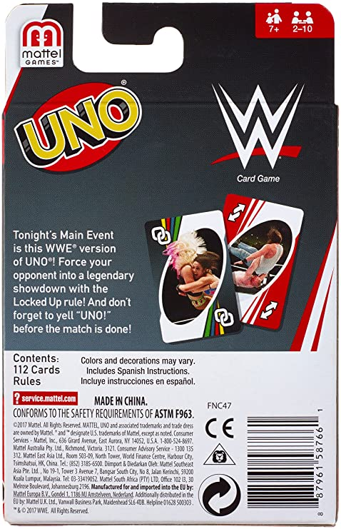 Amazon.com: Mattel Games UNO WWE Card Game: Toys & Games