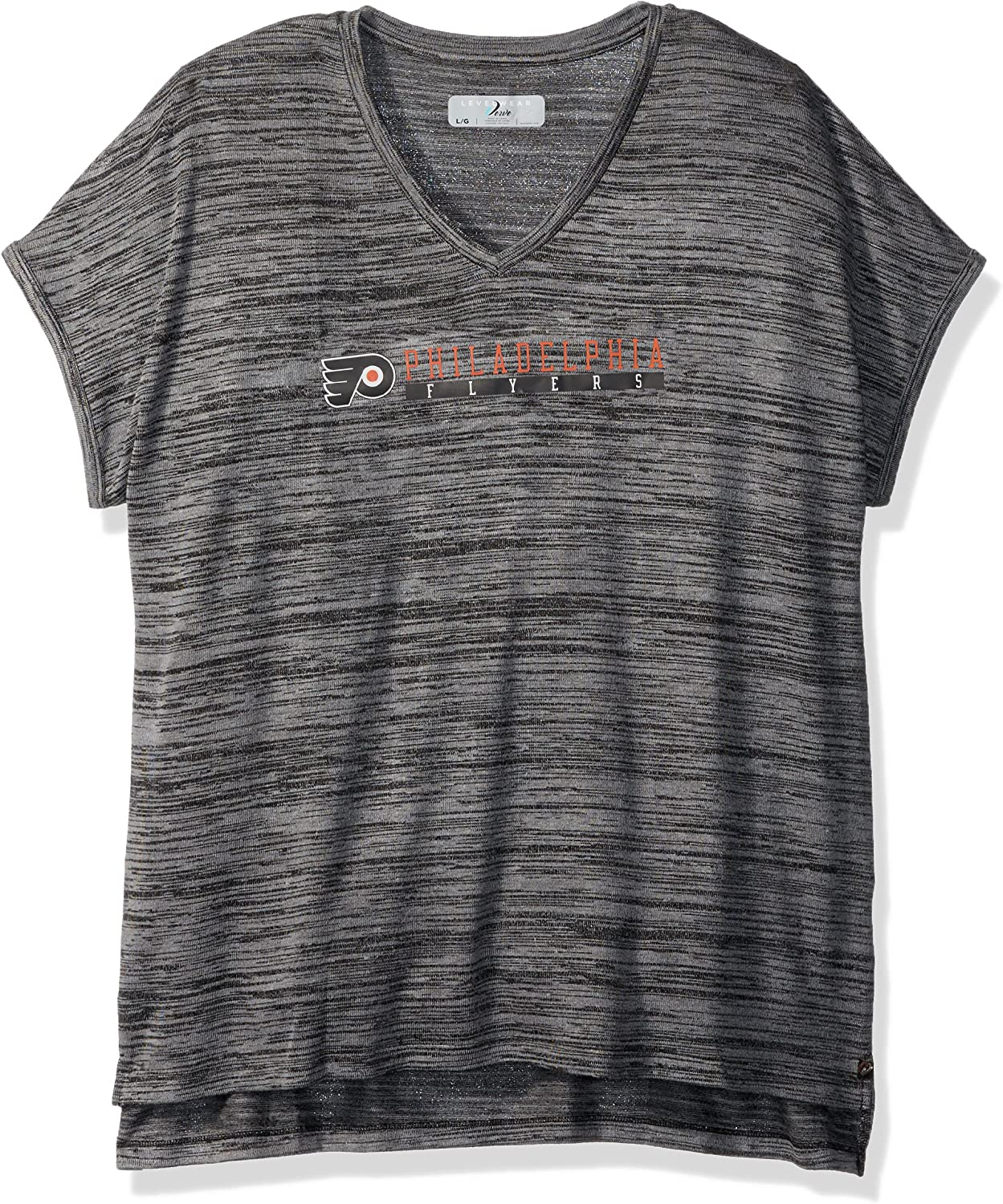 Levelwear NHL Womens Mist Over The Line Active V-Neck Tee