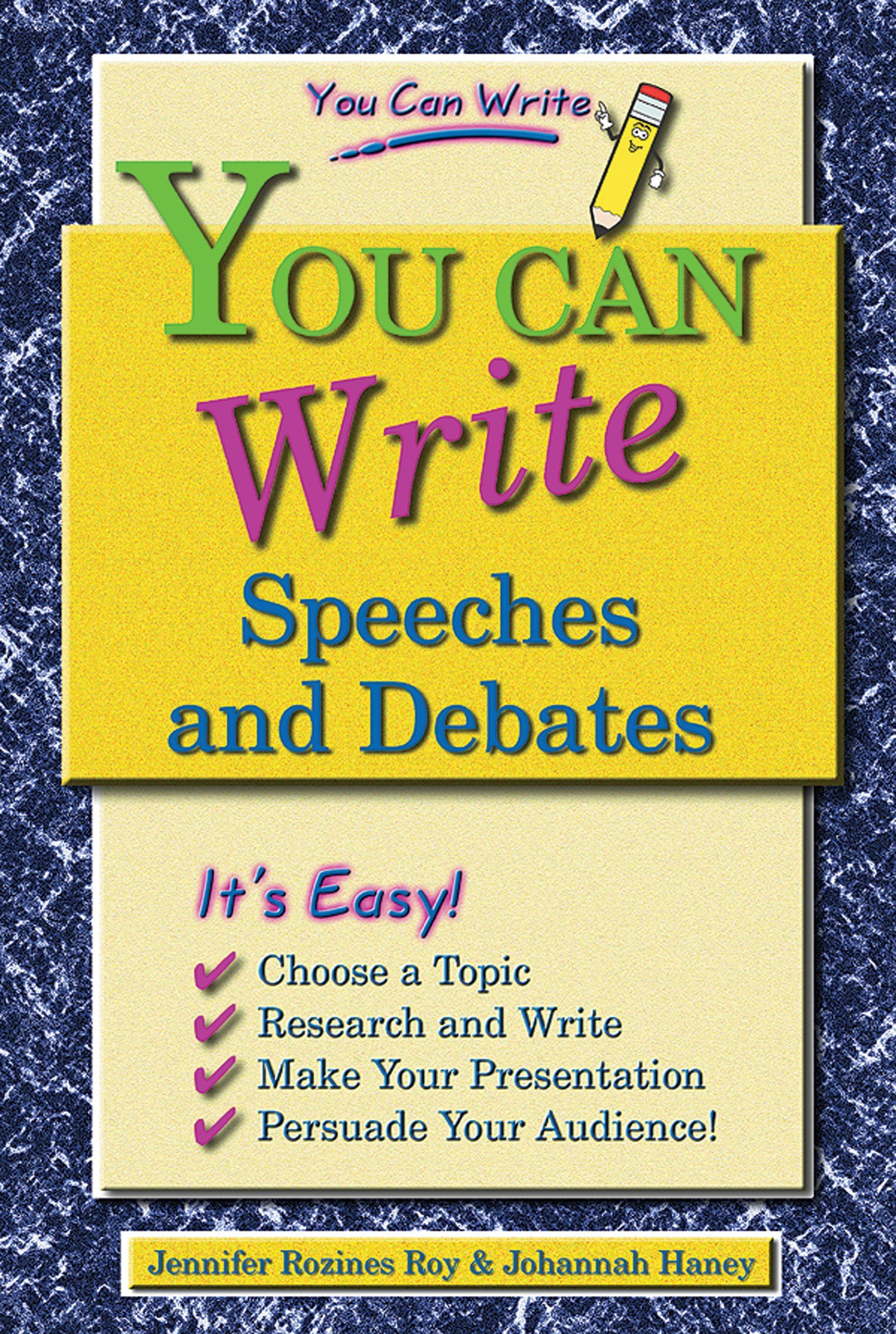 Download You Can Write Speeches and Debates ebook