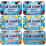 ICE CHIPS Xylitol Candy 6 Tins (Fruity Pack); Low Carb, Gluten Free - includes ICE CHIPS BAND as shown