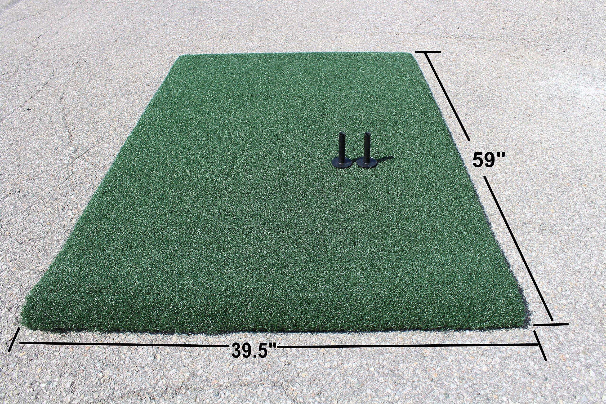 Golf Range True Feel Super Thick mat Golf Chipping Driving Practice Mat 59 x 39 1/2 x1 1/4'' by A99 Golf (Image #4)