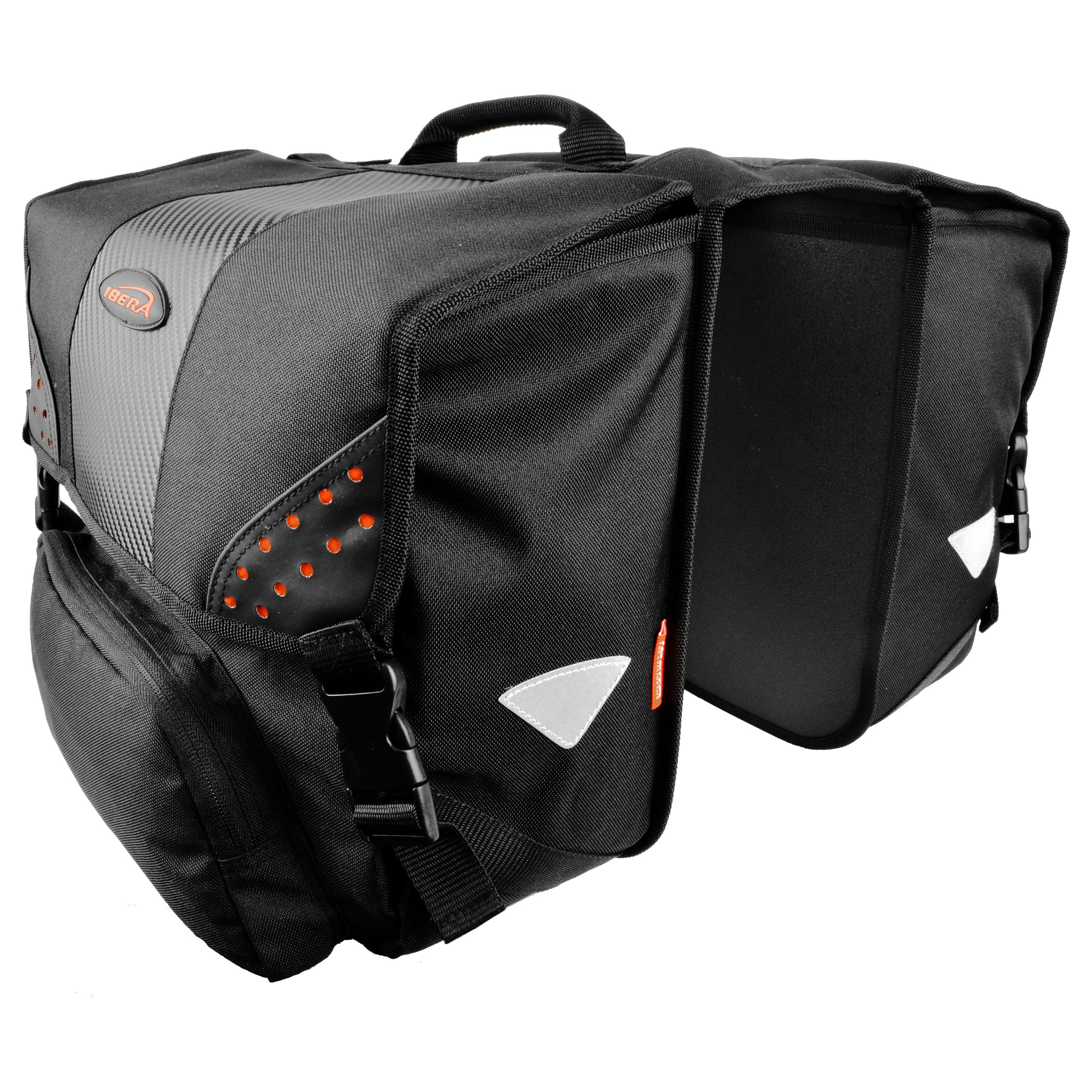 Ibera Bicycle Side-Mounting Pannier Set, Bike Panniers with Multi-Compartments, Slit on Top to Mount on Smaller Racks  by Ibera (Image #2)