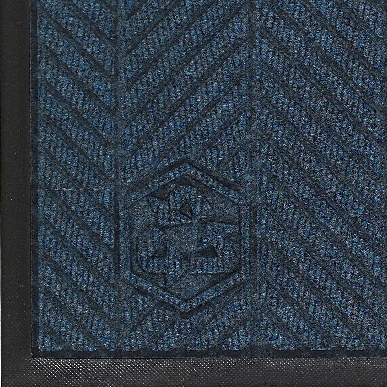 3 Length x 2 Width Black Smoke SBR Rubber Backing M+A Matting 2240 Waterhog Classic ECO Elite PET Polyester Entrance Indoor Floor Mat 3//8 Thick