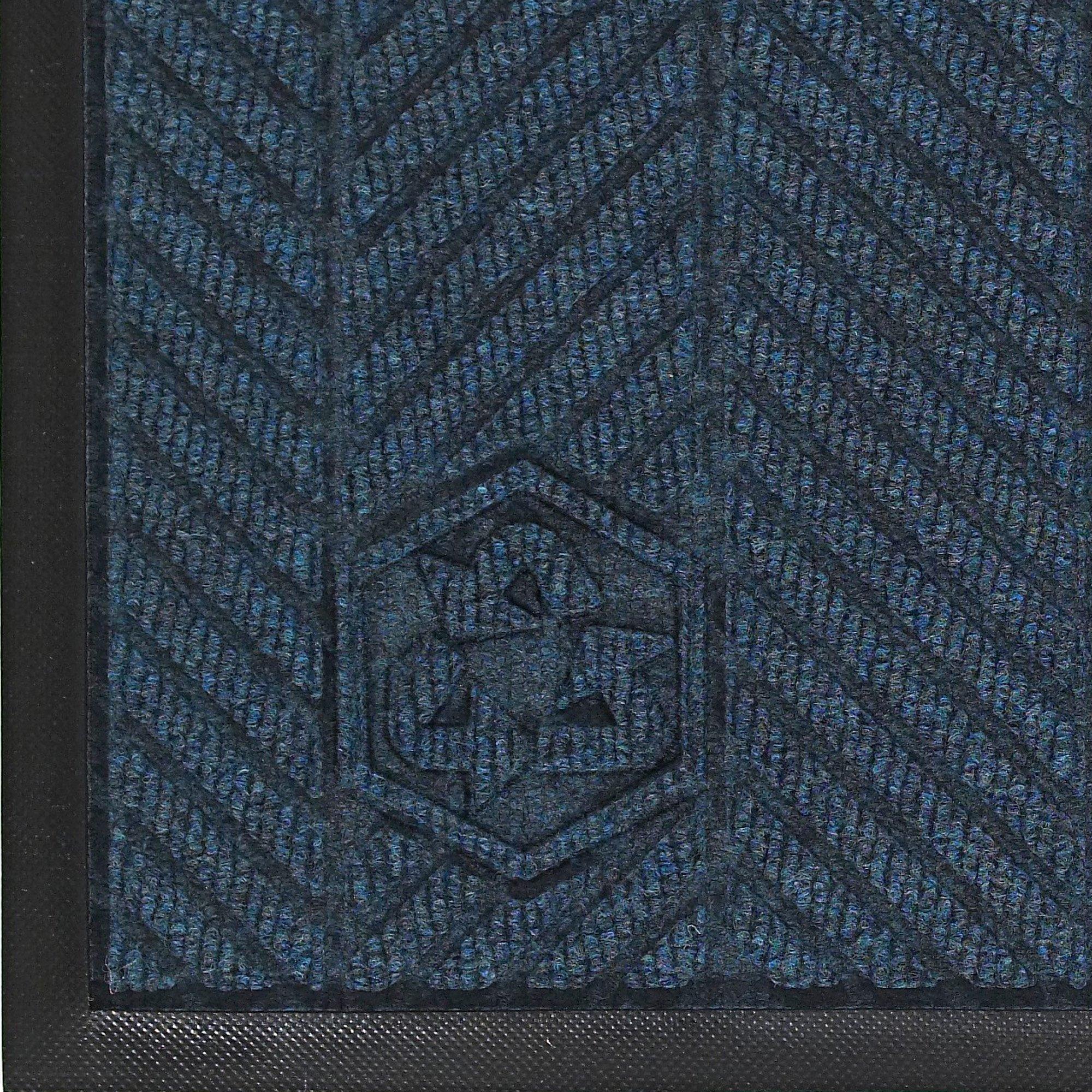 Andersen 2240 Waterhog Eco Elite PET Polyester Fiber Indoor/Outdoor Floor Mat, SBR Rubber Backing, 8.4' Length x 3' Width, 3/8'' Thick, Indigo
