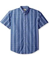 Haggar Men's Peached Poplin Woven Shirt