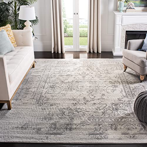 Safavieh Adirondack Collection Oriental Vintage Distressed Area Rug, 6 x 9 , Ivory Silver