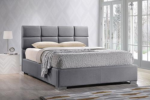 Baxton Studio Sophie Modern Contemporary Fabric Upholstered Platform Bed