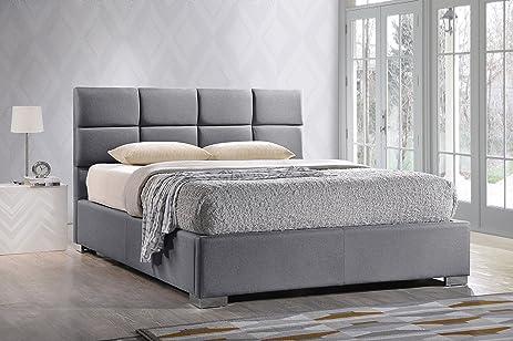 baxton studio sophie modern u0026 fabric upholstered platform bed queen