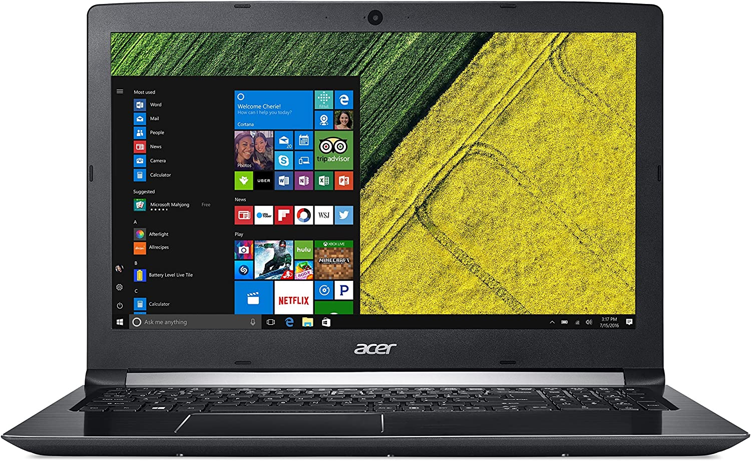 Acer Aspire 5, 15.6in Full HD 1080p, 7th Gen Intel Core i7-7500U, 8GB DDR4, 1TB HDD, Windows 10 Home, A515-51-75 (Renewed)