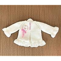 Abrigo o sweater casual tejida para bebé con flor