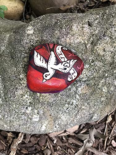 9241c977739 Amazon.com  Handpainted Heart with Traditional Sparrow Flash - Love ...