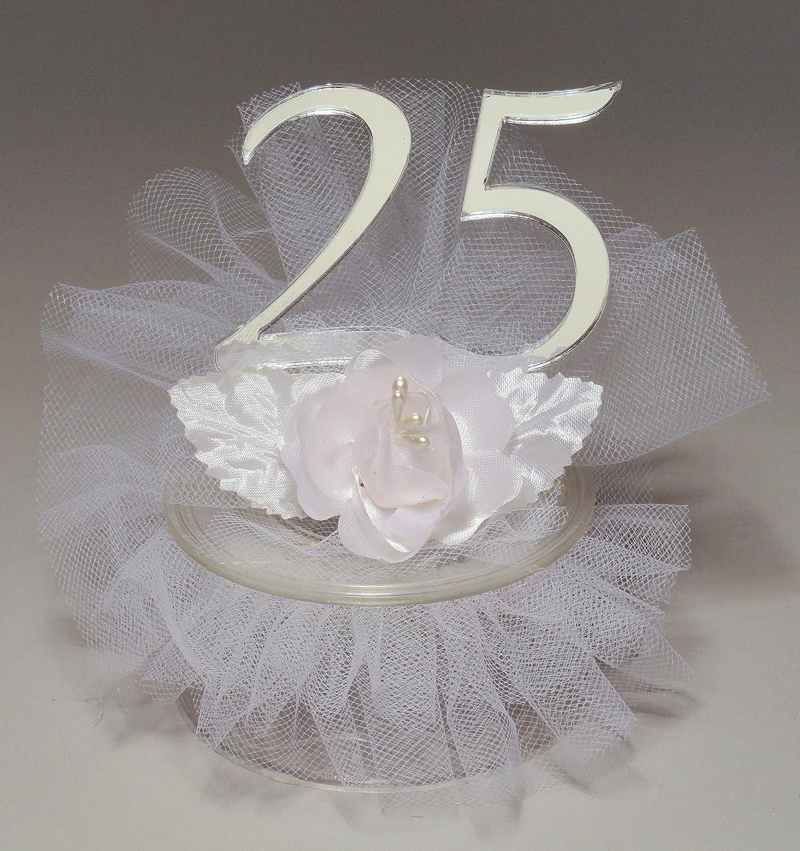 Amazon 25th Wedding Anniversary Cake Topper Kitchen Dining