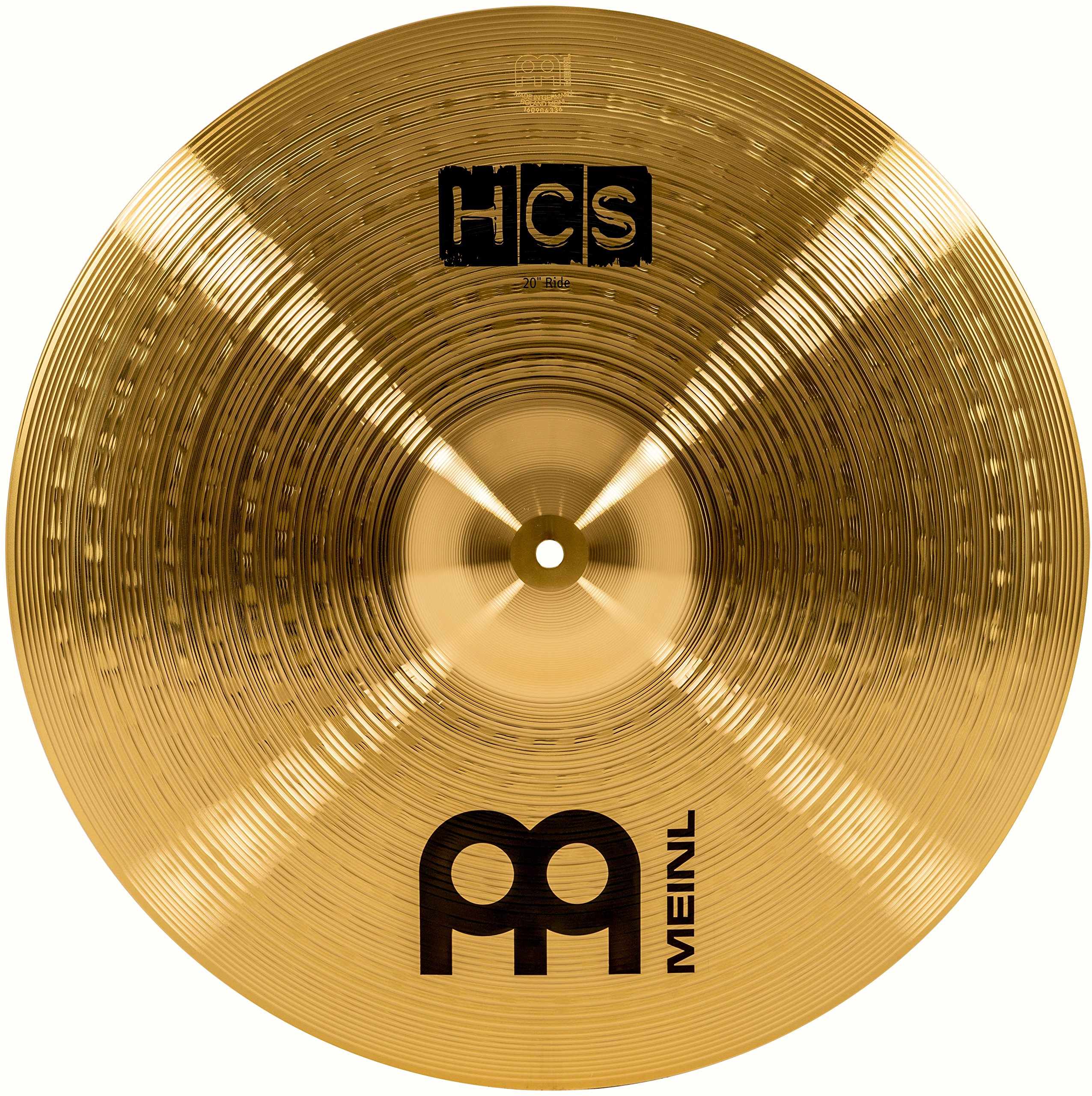 Meinl 20'' Ride Cymbal - HCS Traditional Finish Brass for Drum Set, Made in Germany, 2-YEAR WARRANTY (HCS20R) by Meinl Cymbals