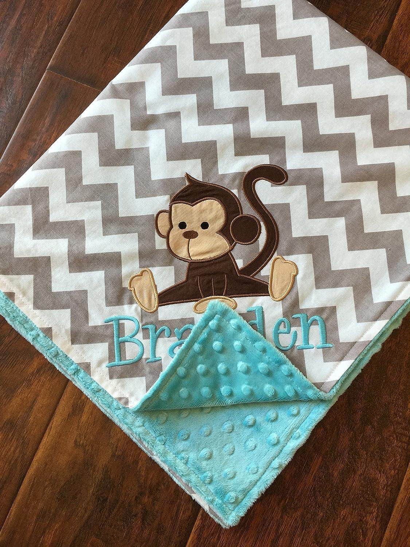 Personalized Baby Blanket-Monkey Baby Blanket Monkey Blanket