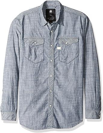 G-Star Raw Men's Tacoma Deconstructed Ticking Stripe Shirt L/s