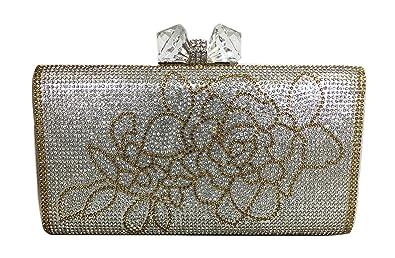 1e2d6c5eca Crystal Clutch Purse Hard Case Rhinestones with Baeds Evening Clutch Bag  Party Wedding Purses for Women
