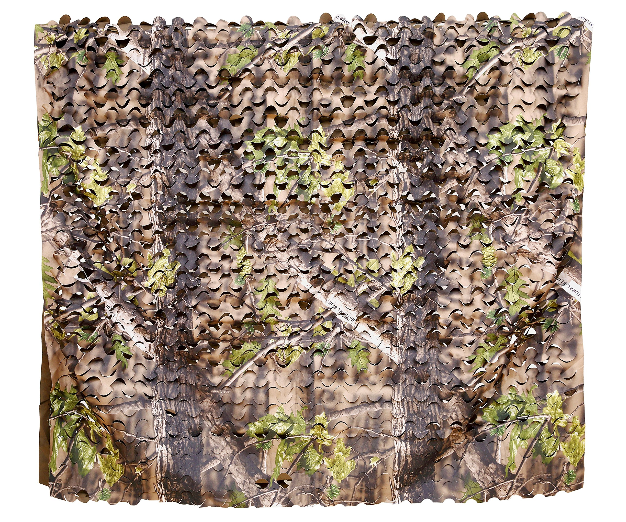 Auscamotek 300D Camo Netting Camouflage Nets Turkey Hunting Blinds Material for Ground Portable Blind Tree Stand - Green 5x6.5Ft