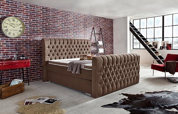 Schlichter Möbel Cama con somier Cama Sevilla, Beige, 180 x 200 cm: Amazon.es: Hogar