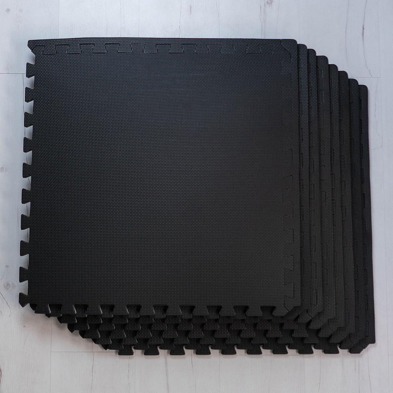 9 x Negro Colchonetas, Suelo para Gimnasio, EVA Puzzle 60cm ...