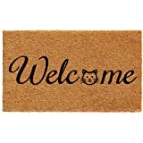 "Home & More 102481729 Kitty Welcome Doormat 17"" x 29"""