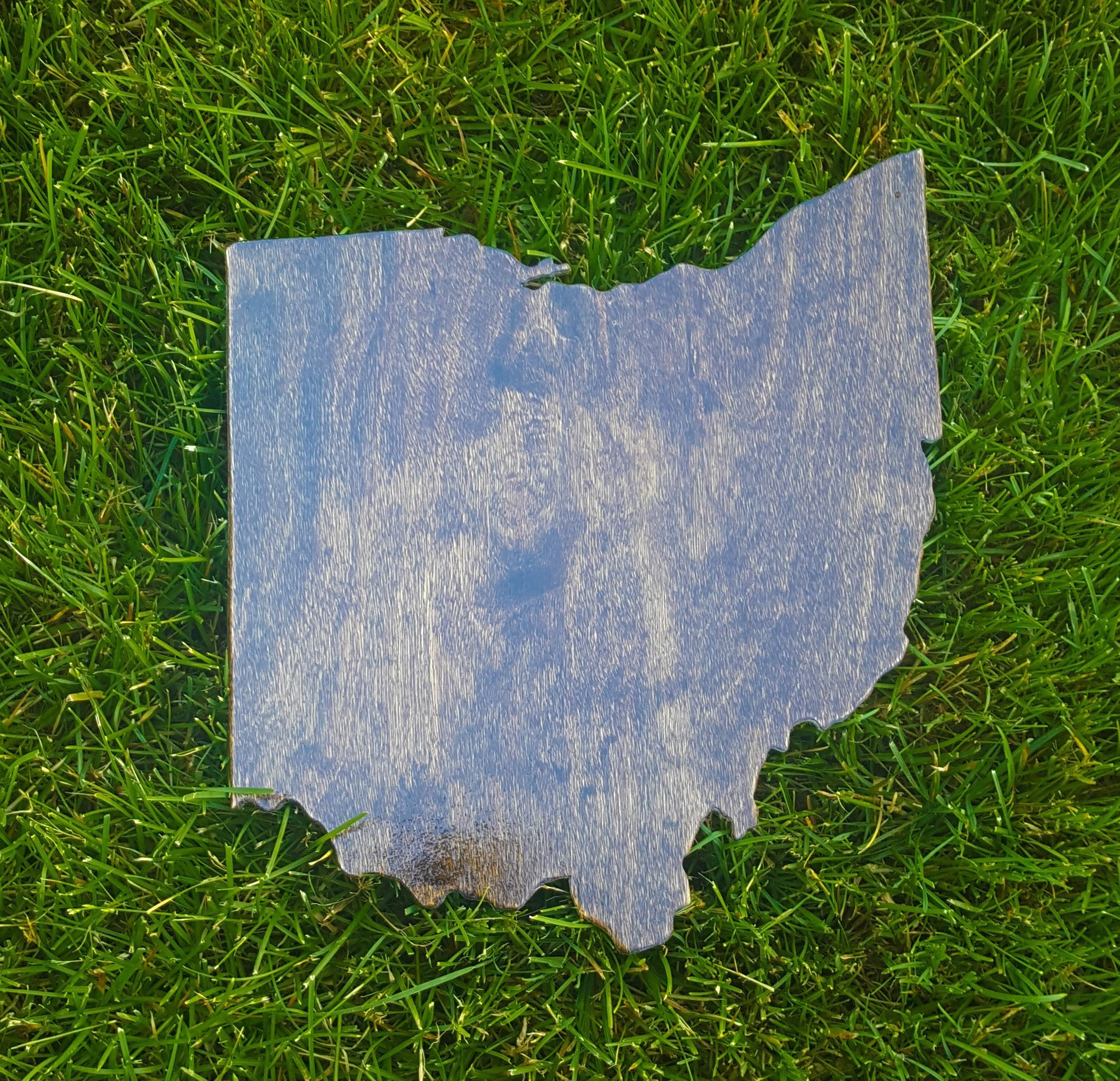 Rustic Ohio Wooden Gallery Wall Art Cutout Office College Dorm Home Bedroom Decor
