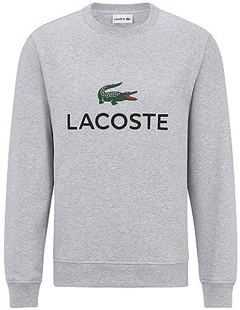 Lacoste - Sweat-Shirt - Uni - Homme Blanc Weiß - Gris - X-Small ... f0890e8dd6ac