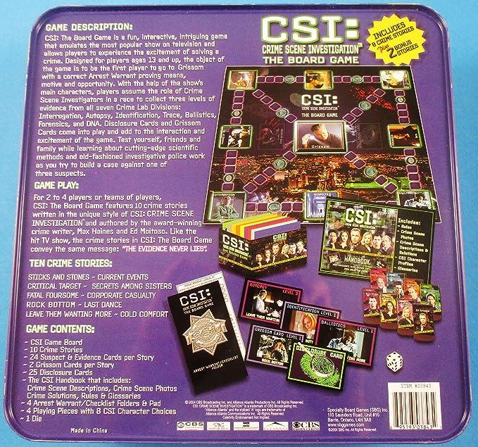 CSI: Crime Scene Investigation: The Board Game