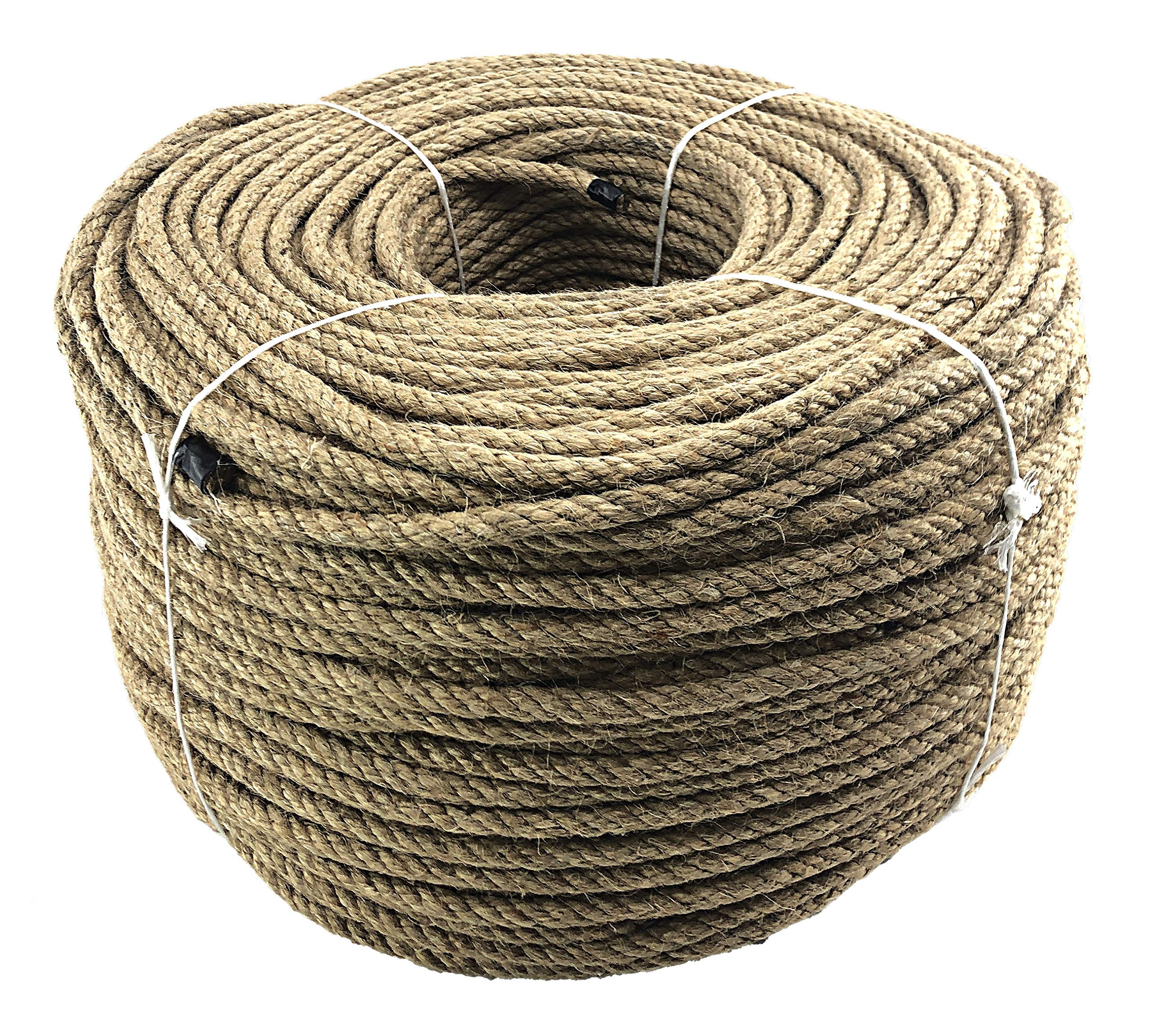 Natural Jute Rope Twisted Decking Cord Garden Boating Sash Camping 6-44mm