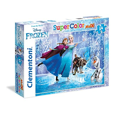 Clementoni - 24474.4 - Puzzle Super Color Maxi 24p La Reine des Neiges