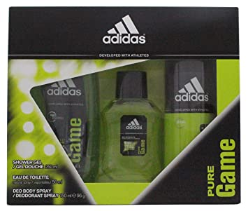 cf5390d8a49 Image Unavailable. Image not available for. Colour  Adidas Pure Game Gift  Set ...