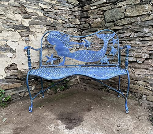 Coastal Blue Metal Furniture Collection Bench