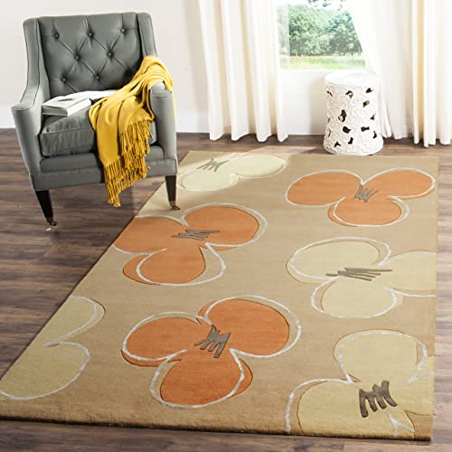 Safavieh Soho Collection SOH302A Handmade Gold Premium Wool Area Rug 9 6 x 13 6