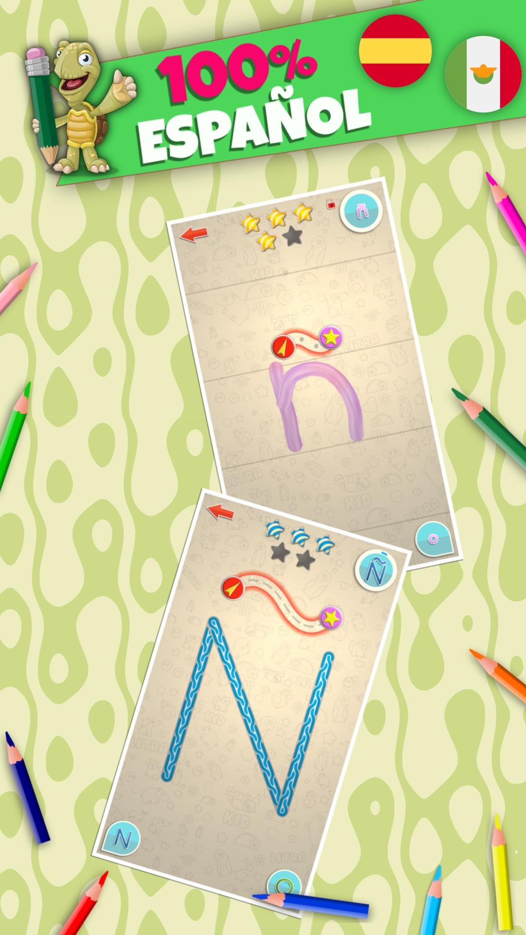 LetraKid – Abecedario para niños. Trazos para aprender escribir ...