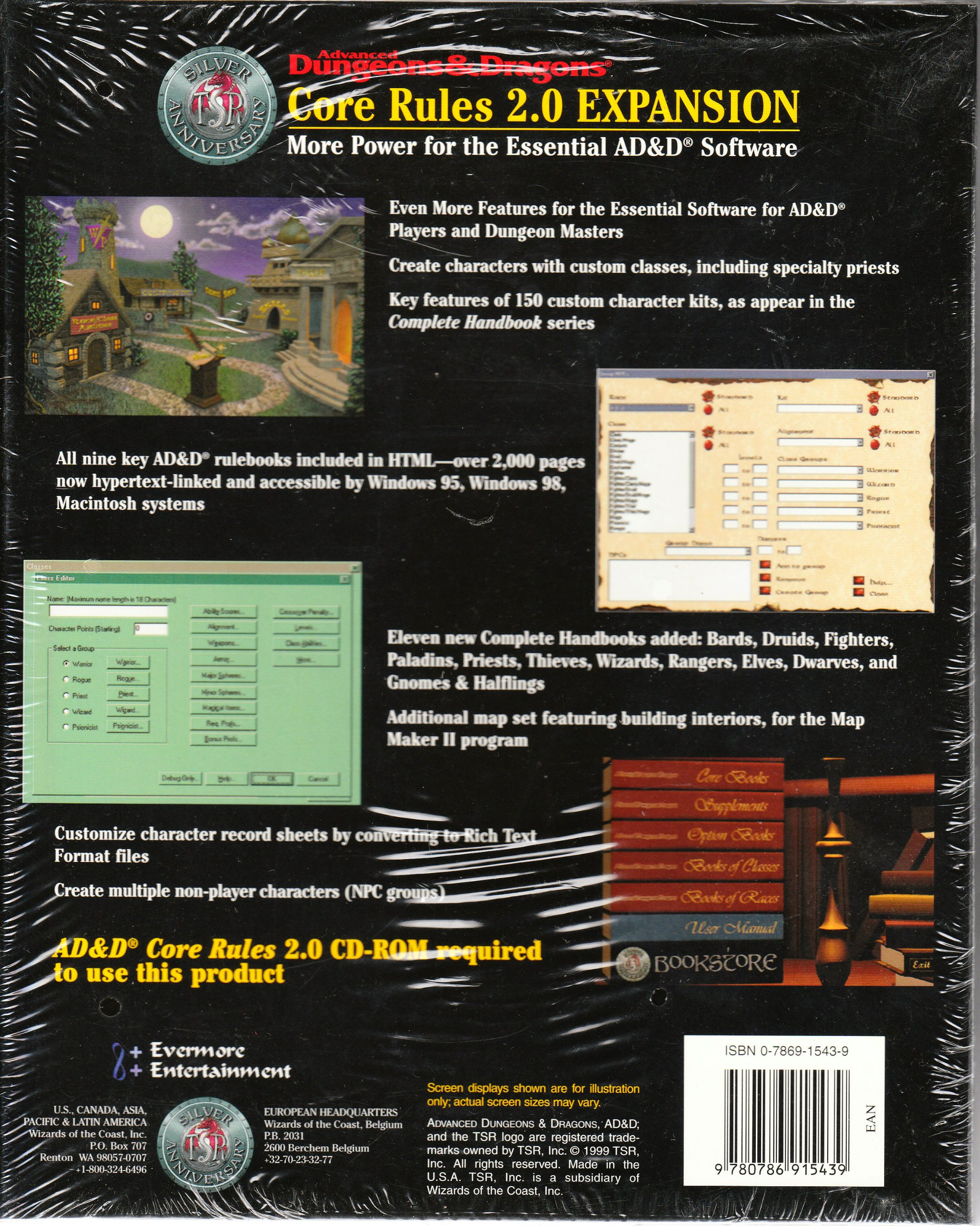 Advanced Dungeons & Dragons Core Rules 2 0 Expansion: Inc