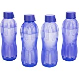 Signoraware Aqua Fresh Water Bottle, 500ml, Set of 4, Deep Violet