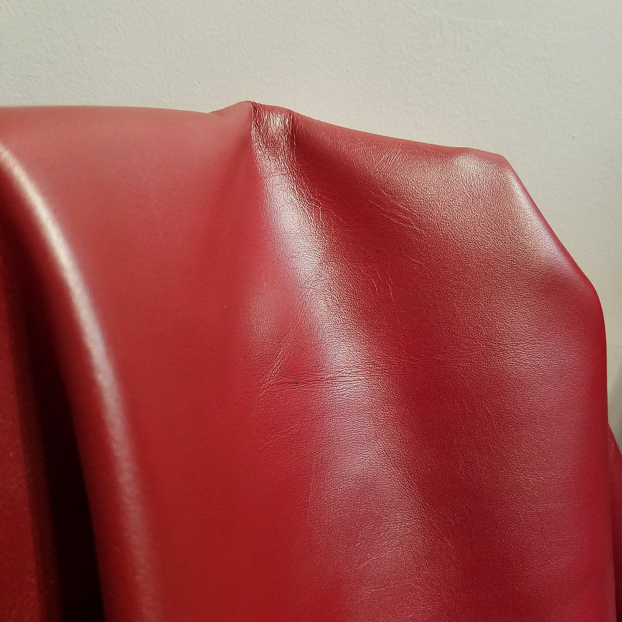 NAT Leathers Red Shimmer Soft Nappa Leather 2.0-2.5 upholstery craft, shoe, bookbinding Handbag Cowhide Genuine Cow Leather Hide Skin (18-21 sq.ft.)