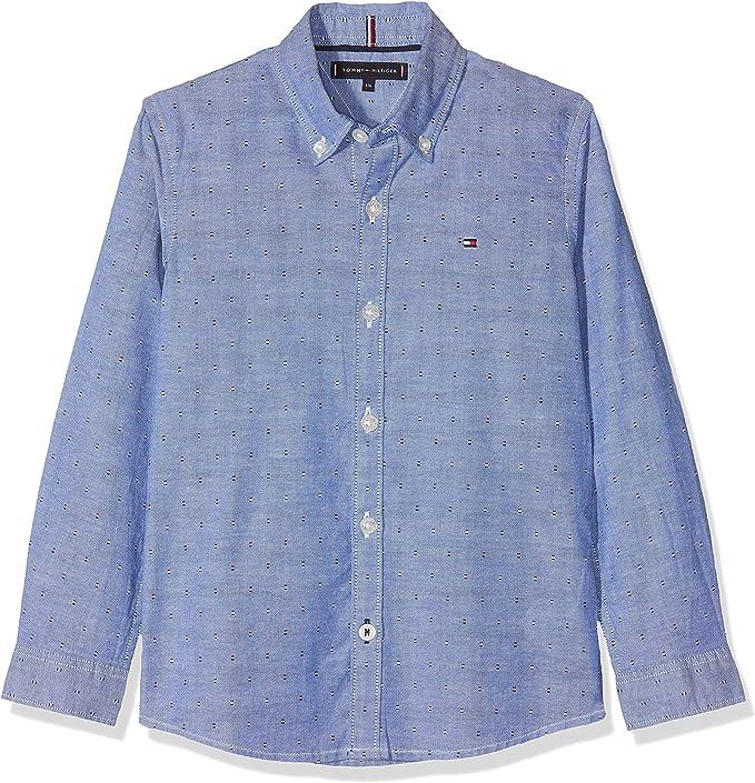 Tommy Hilfiger Essential Printed Oxford Shirt L/S Blusa para Niños: Amazon.es: Ropa y accesorios