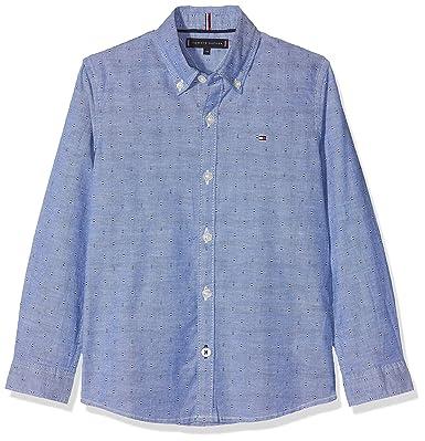 Tommy Hilfiger Jungen Hemd Essential Printed Oxford Shirt L S  Amazon.de   Bekleidung 3070371e11