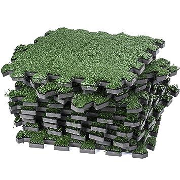fake grass carpet. Interlocking Artificial Grass Tile \u2013 Turf Carpet Fake Floor Mat- Soft