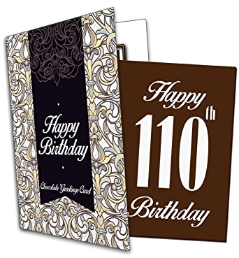 Happy 110th Birthday Chocolate Greeting Card Amazon Co Uk Grocery