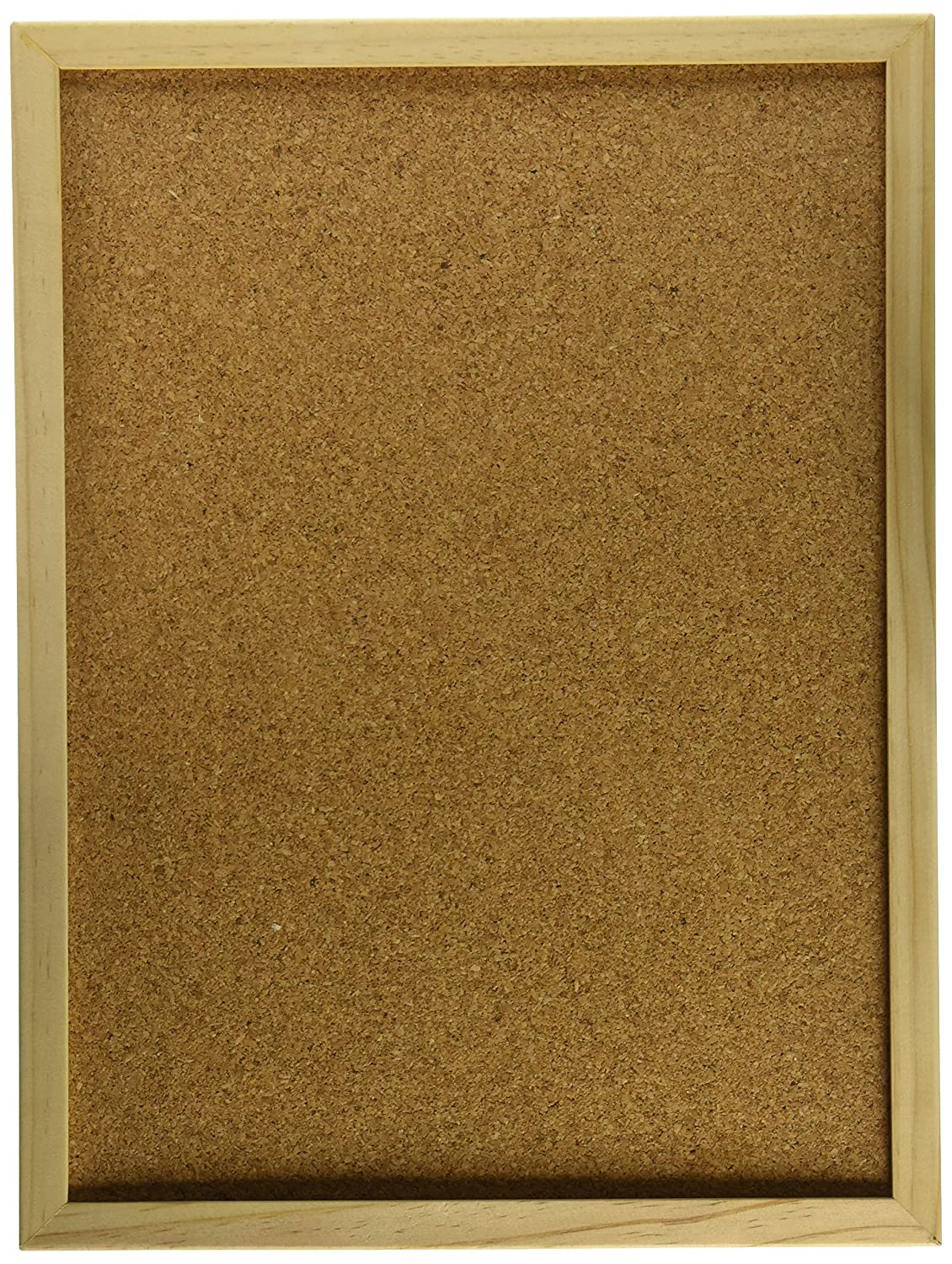 Darice 12 by 16 inch, Wood Framed Cork Memo Board with Push Pins, 16' 16 9172-63