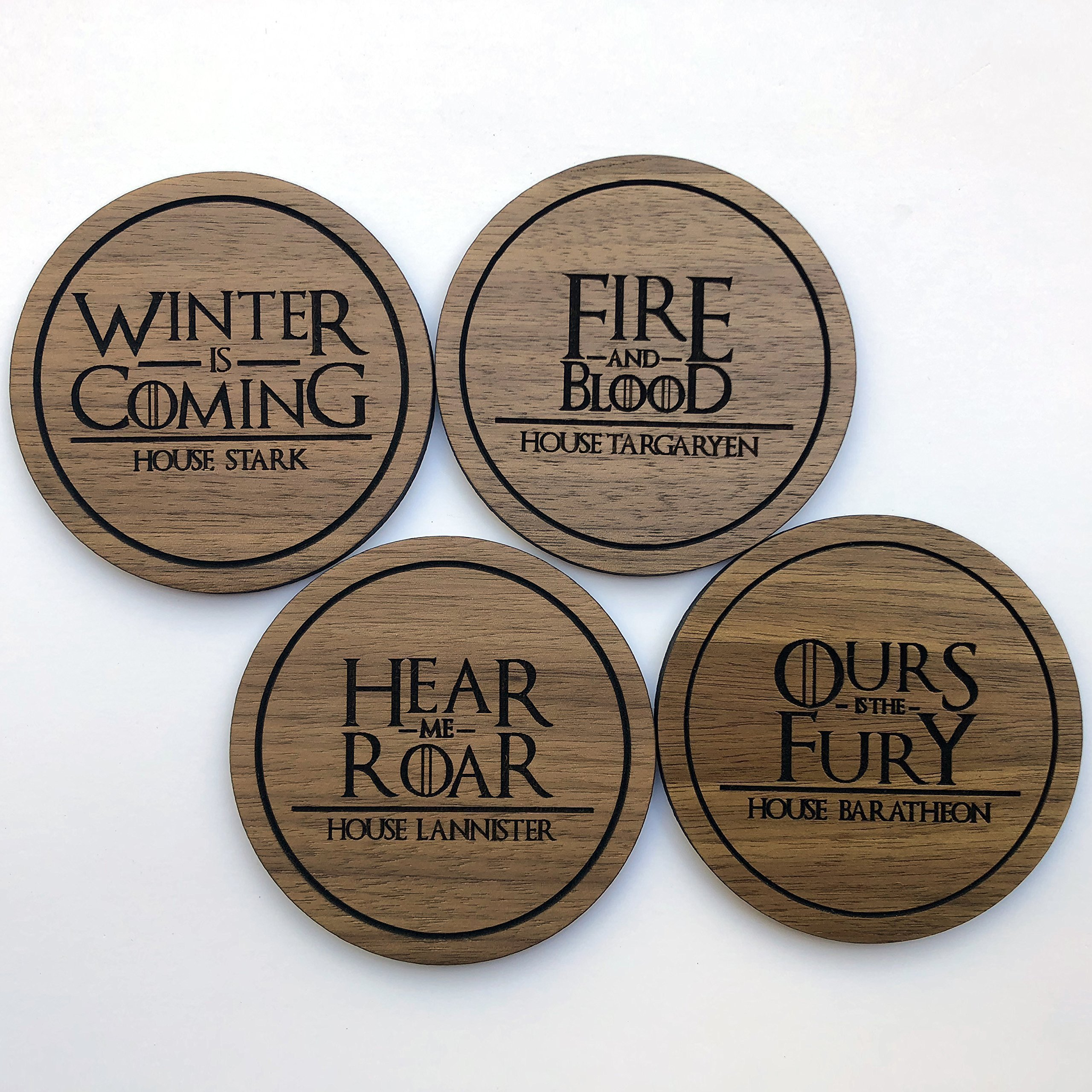 Game of Thrones - Wood Drink Coaster set of 4