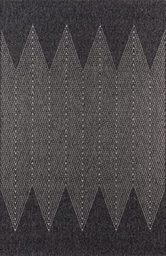 Momeni Rugs Como Contemporary Geometric Indoor Outdoor Area Rug, 6 7 x 9 6 , Charcoal